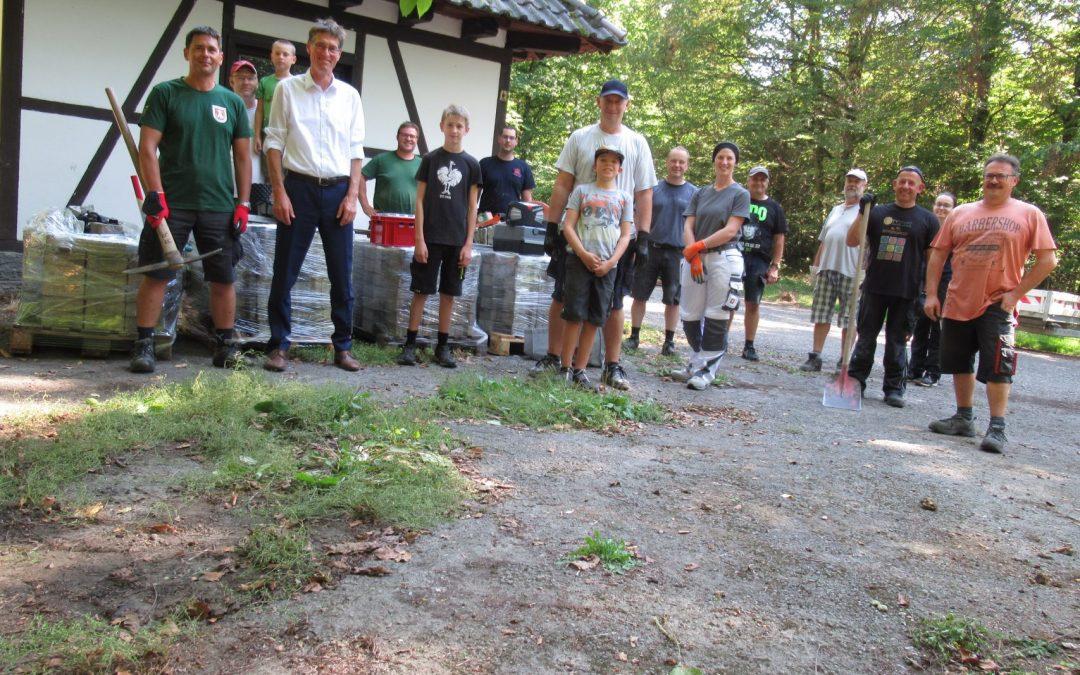Erneuerung der Außenanlage Waldhütte 2020